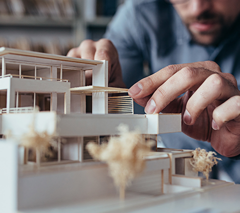 Architects in Santiago developing a model